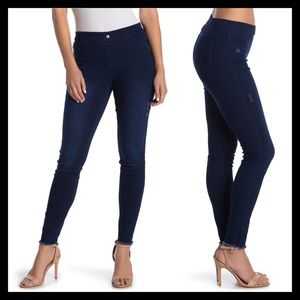 HUE Ripped Jeggings Jeans Ink Wash